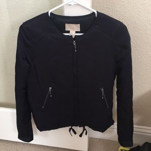 H&M Navy blue quilted bomber jacket
